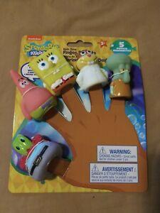 Set of 5 SpongeBob SquarePants Finger Puppets Bath Toys New Free Shipping