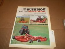 PY109) Bush Hog Sales Brochure 4 Pages - Flex Wing Rotary Cutters