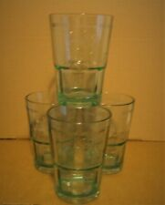 BACARDI MOJITO GLASSES X 4  WITH THE EMBOSSED BAT LOGO 33 CL