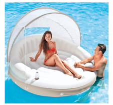 Intex Inflatable Pool Lounge Canopy Island Floating Raft Sun Shade 58292
