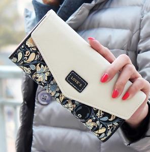 Fashion Women Lady PU Leather Clutch Wallet Card Holder Purse Long Handbag