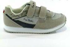 Scarpe bambino bambina PIERRE CARDIN sneakers in camoscio con strappo white/silv
