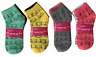 New 12 Pairs Womens Ankle Socks Multi Color Kitty Size 9-11 Cotton Casual