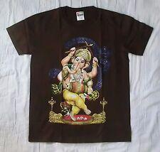 Dancing Ganesh medium brown t-shirt