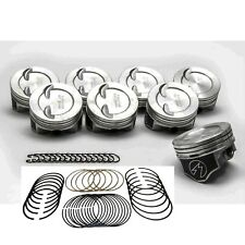 SPEED PRO Chevy 383ci Stroker Hypereutectic Coated Pistons+Moly Rings  +.030