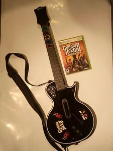 Guitar Hero Xbox 360 Gibson Les Paul wireless bundle w/ Legends of Rock 3 TESTED