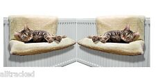 2 NEW  CAT RADIATOR BED WARM FLEECE BEDS BASKET CRADLE HAMMOCK ANIMAL PUPPY PET