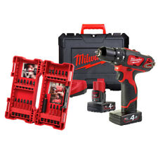 Milwaukee M12bpd-402c Drill Percussion 12v Battery 4.0ah+ Set Bit 24 Pieces