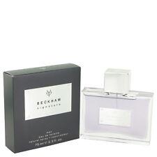 David Beckham Signature Men 75ml/ 2.5oz EDT Spray Perfume Sealed Box Genuine