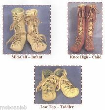 Child's Ghillie Moccasin Sewing Pattern Celtic Roman Breton Biblical Laced Shoe
