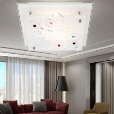 Plafonnier chrome verre satiné éclairage luminaire plafond couloir chambre