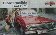 PUBLICITE AUTOMOBILE FORD 12 M CHAMPION DU MONDE MIRAMAS DE 1968 FRENCH AD PUB