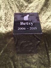 Pet Memorial Outdoor Urn - Polished Granite - Peronalised - Made to order