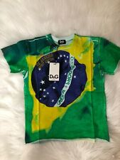 D&G Junior Boys Green Mexico Tee shirt Top Sz 8