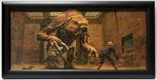 Star Wars ROTJ LUKE SKYWALKER vs RANCOR FRAMED CONCEPT PRINT McQuarrie 1983 Jedi