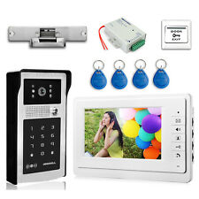 "7"" Video Door Phone Passowrd Camera Electric Strike Lock Visual intercom bell"