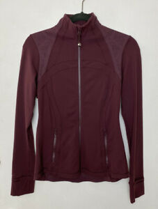 Lululemon Define Jacket Laser Cut Size 6 Bordeaux Maroon Active Long Sleeve