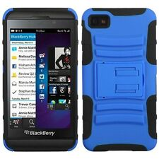 Blue/Black Advanced Armor Stand Phone Protector Cover Case for BlackBerry Z10