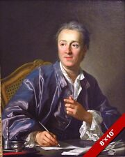 DENIS DIDEROT FRENCH PHILOSPHER AUTHOR PORTRAIT PAINTING ART REAL CANVAS PRINT