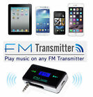 Wireless Music to Car Radio FM Transmitter For 3.5mm MP3 iPod Phone Tablet PC