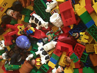 Lego Duplo 1/2 kg pieces buildiing Bricks assorted vehicle animal or people 500g