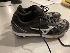 New listing Mizuno Women's Cyclone Speed Volleyball Shoes Black/Silver #430241 76E Size 10