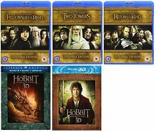The Lord of the Rings The Hobbit DVD  5 Movies Extended Edition Blu Ray Box Set