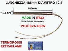 CANDELETTA RESISTENZA X STUFA PELLET 12,5 x 186 - 400W EXTRAFLAME TERMOROSSI EC