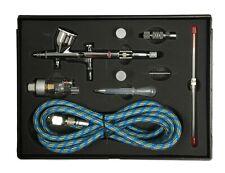 AB-180 Profesional De Precisión Kit de doble acción aerógrafo de alimentación por gravedad