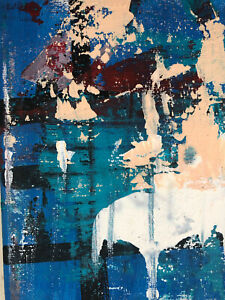 Hasworld Original Signed Painting Contemporary Abstract Expressionist Fine Art