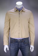 * BRIONI * Very Recent Tan Zip Front Leather Cafe Jacket 40/Medium