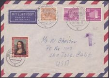 Germany - 1955 -  Federal Republic & Berlin Occupation Values On Airmail Cover