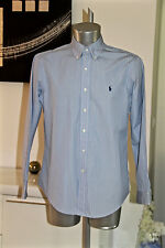 jolie chemise bleue POLO by RALPH LAUREN custom fit dress shirt taille 16 40-41
