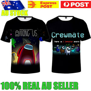 Unisex Kids Adult Among Us 3D Casual T-Shirt  Short Sleeve Tee Tops Xmas Gift AU