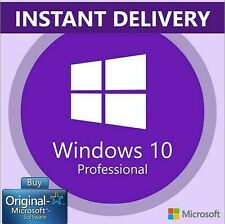 Licenza Windows 10 Professional Pro Key 32 & 64 Bit Code Retail ESD
