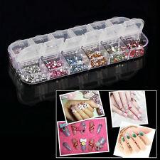 Mix Color Teardrop Nail Art Gems Rhinestones Glitters Beautiful Decoration PJ