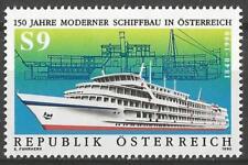 Austria 1990 MNH - Transport - Shipbuilding - Telegraph 1880, Anton Chekhov 1978