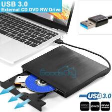 External USB 3.0 DVD RW CD Writer Drive Burner Reader Player For PC Mac Dell HP