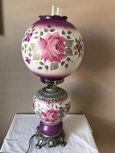 Vintage Duraplastic Hand Painted GWTW Electric Table Lamp Gone with the Wind