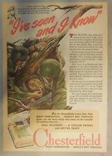 Chesterfield Cigarette Ad: Very Nice Wartime Story Ad ! Tabloid Page 1940's