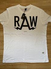 G Star New Mens Regular Fit White XXL T Shirt RRP £25