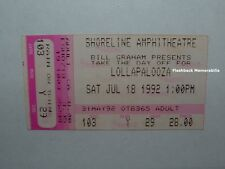 LOLLAPALOOZA 92 Ticket Stub PEARL JAM Soundgarden STP Ministry RHCP Shoreliine