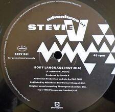 "ADVENTURES OF STEVIE V ~ Body Language ~ 12"" Single PROMO"