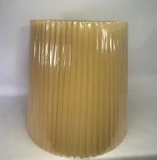 Vintage Mid-Century Stiffel Pleated Drum Lamp Shades - New / Original -Large