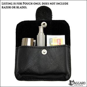Maggard Razors Leather Travel Razor Case