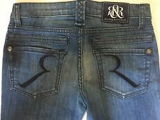 New Rock & Republic Distressed Destroyed Tire Tracks Skinny Jeans Tween Jr Sz 25