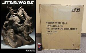 Luke vs Wampa Statue #3/35 Sideshow Bronze Exclusive Star Wars Ambush On Hoth