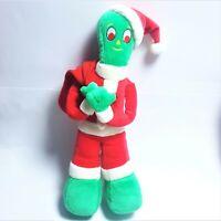 "Vintage Gumby Santa Plush 16"" Good Stuff 1999 Prema Stuffed Animal Toy Rare HTF"