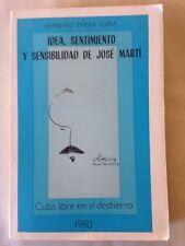 Idea, Sentimiento Y Sensibilidad De Jose Marti Llera Paperback 1981 Ediciones