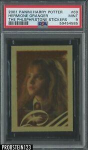 2001 Panini Harry Potter Philosopher's Stone Stickers #69 Hermione Granger PSA 9
